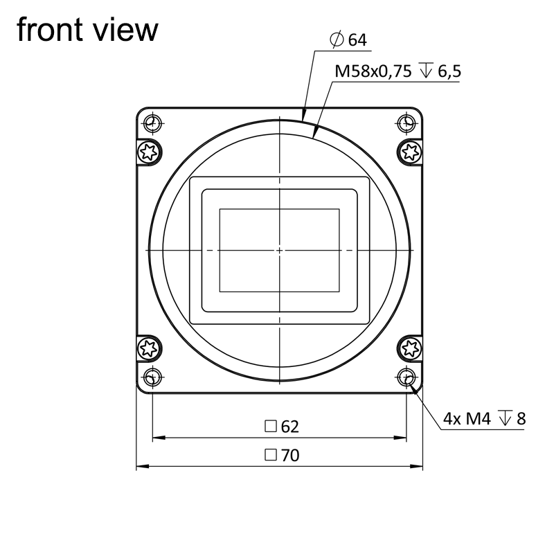 dimensions front